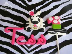 Zebra cake toppers