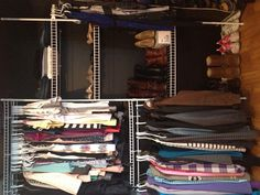 Closet organization -- his and hers