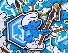 Frog stew for dinner. Cool Stickers, Custom Stickers, Ingress Resistance, Floor Decal, Etsy Store, Smurfs, The Incredibles, This Or That Questions, Prints
