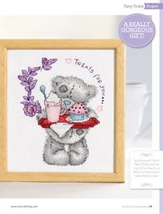 Tatty Teddy Treats for You The World of Cross Stitching Issue 204 July 2013 Hardcopy in Folder