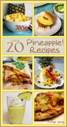 Over 20 Fresh Pineapple Recipes {March Seasonal Fruit}