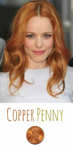 2014 Hair Trend: Copper Penny Hair Color - just like Rachel McAdams! #copper #haircolor #hairtrends