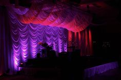 Awesome curtain stage set!