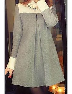 Winter dresses made of wool (traffic) / Thing / SECOND . Source by OfficeOutfitsOfficial dress outfit Simple Dresses, Casual Dresses, Elegant Dresses, Women's Casual, Casual Shirts, Hijab Fashion, Fashion Dresses, Fashion News, Mode Hijab