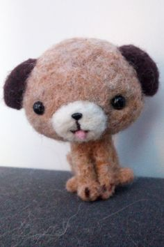 Felted Puppy from Merino Fiber by Lara-Sophie Kraus 😋😍