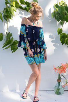 Mai Tai Aloha Lace Dress New Fashion, Boho Fashion, Fashion Dresses, Rose Got, Mai Tai, Rose Boutique, Boho Tops, Outfit Of The Day, Off Shoulder Blouse