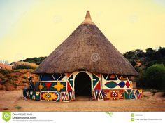 Colorida chosa africana.