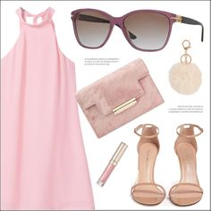 A fashion look from October 2016 by smartbuyglasses featuring MANGO, Stuart Weitzman, Versace, Armitage Avenue, By Terry et Pink