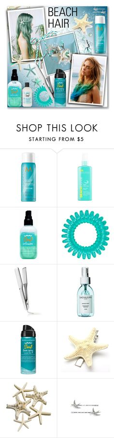 """""""Beach hair contest"""" by oleahg ❤ liked on Polyvore featuring beauty, Moroccanoil, Bumble and bumble, T3, Sachajuan, Marc Jacobs and beachhair"""