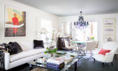 Get to Know Catherine Brooks Giuffre White walls with blue gray ceilings..interesting