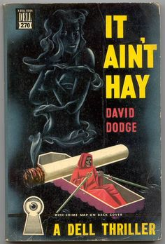 """""""It Ain't Hay."""" Apparently pot makes you see gigantic coffins rowed by death."""