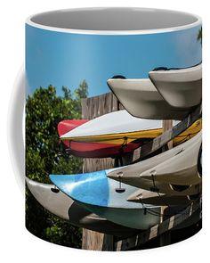 Beach Kayaks Coffee Mug by Scott Hervieux.  Small (11 oz.)