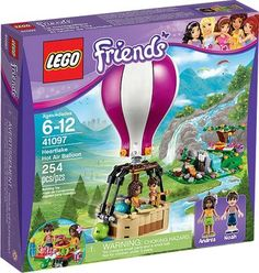 Heartlake Hot Air Balloon from Lego - a great selection of Lego construction sets at Wonderland Models. One of our favourite sets in the Lego Friends range is Heartlake Hot Air Balloon. Lego Girls, Lego For Kids, Toys For Girls, Gifts For Girls, Girl Gifts, Lego Batman, Lego Marvel, Spiderman, Hotel Lobby