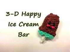 3-D Happy Ice Cream Bar Tutorial by feelinspiffy (Rainbow Loom)