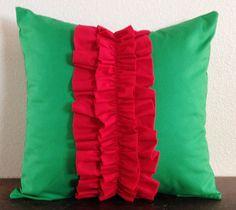 Christmas Ruffled pillow