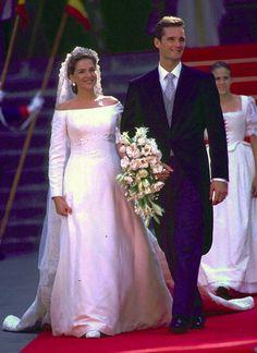 Feliz imagen de los novios Infanta Cristina de España e Iñaki Urdangarin