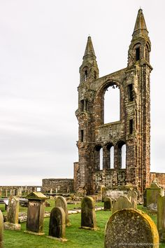 The ruins of St Andrews Cathedral in Scotland are some of the most beautiful in the United Kingdom. #standrews #scotland #cathedral