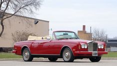 1989 Rolls-Royce Corniche II Convertible | G242 | Kissimmee 2018 Rolls Royce Corniche, Bentley Rolls Royce, Red Accents, Convertible, Trucks, Cars, Wedding, Valentines Day Weddings, Infinity Dress