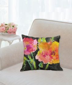 A personal favorite from my Etsy shop https://www.etsy.com/listing/274692586/sale-throw-pillow-midnight-bloom-14-x-14