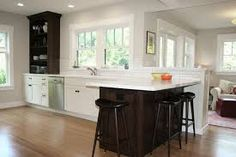kitchen peninsula with seating - Google Search