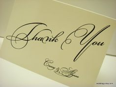 Personalized Stationery Set with Wording Thank You and by wedology, $14.00