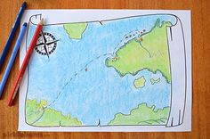 Read the fabulous Mapmaker Chronicles - Race to the End of the World and then make your own map with this free printable map drawing prompt.