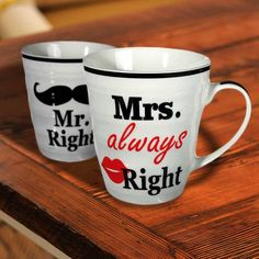 Mr. Right & Mrs. Always Right mokken | MegaGadgets