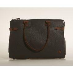 Quality leather handbag from Berba - a new brand at KAZA. Grey Berba Håndtaske