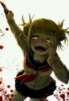 Toga himiko art-my hero academia. Animes Yandere, Yandere Anime, Chica Anime Manga, Otaku Anime, Anime Guys, My Hero Academia Episodes, Hero Academia Characters, My Hero Academia Manga, Anime Villians