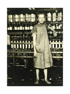 """Addie Card, Spinner in North Pownal Cotton Mill. """"She admitted to me she was twelve; that she started during school vacation and now would 'stay'"""" (Lewis Hine) Old Pictures, Old Photos, Vintage Photographs, Vintage Photos, Lewis Wickes Hine, Cotton Mill, American Children, Industrial Revolution, Heritage Image"""