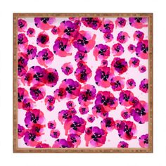 Randi Antonsen Pink Flower Square Tray | DENY Designs Home Accessories