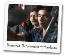 THE BOOTSTRAP SCHOLARSHIP - The Vocational School teaches auto mechanics, refrigeration, sewing—and gives all students a solid grounding in the Bible. Each $300 you raise will provide a year's education. You can provide a work/study supplemental scholarship for just $50 to a student who can manage the school's fees with just a little of your help and encouragement. You can also give $50 per month for work/study supplemental scholarships