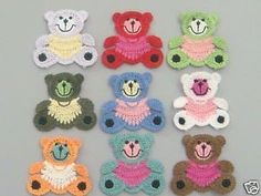 Free Crochet Appliques | How to Applique ༺✿ƬⱤღ  https://www.pinterest.com/teretegui/✿༻