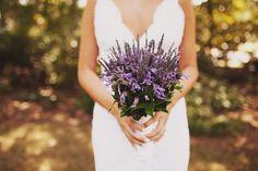 Lavender bridal bouquet.
