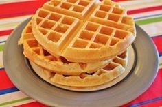 Belgian Waffles from scratch :   2 cups all purpose flour    1 Tbsp brown sugar    2 tsp baking powder    1/2 tsp salt    1/2 tsp ground cinnamon    3 eggs, separated    2 cups milk    1/4 cup oil    3/4 tsp vanilla extract