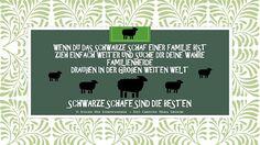 Gedicht Poesie Grusskarte Sprüche  Schwarze Schafe