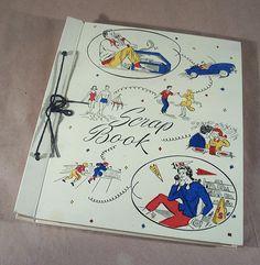 Vintage 1950's PONYTAIL Type Illustrated Teenage SCRAP BOOK by Superjunk5000 on Etsy
