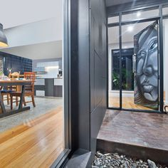 Nothing says unique like a graffiti-art door. A contemporary look equipped with Matrix Cladding to bring flair into this modern contemporary home. External Cladding, Modern Contemporary Homes, Graffiti Art, Home And Family, Walls, Doors, Architecture, Unique, Link