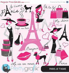 60% OFF SALE paris fashion clipart for scrapbooking, commercial use, vector graphics, digital clip art, images - CL556