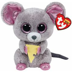 TY Beanie Boo Plush - Squeaker the Mouse - Beanie Boos are They are made from Ty's best selling fabric - Ty Silk, and are created with fantastic custom eyes. Ty Beanie Boos, Beanie Babies, Ty Babies, Ty Animals, Ty Stuffed Animals, Plush Animals, Ours Boyds, Peluche Lion, Ty Toys