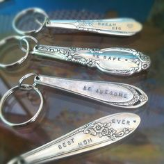 Vintage spoon keychains by #scad alum Kathryn Riechert $16 // What perfect Mother's Day gifts!
