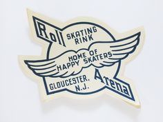 1940s Roll Arena Skating Rink Decal Home of Happy Skaters Gloucester N.J. by…