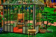 A gazebo in the American timeline portion of the Great American Dollhouse Museum. © Photo by John Barrett.