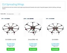 DJi Spreding Wings Drone fra Dronevolt. #DJi #Drone #SpreadingWings