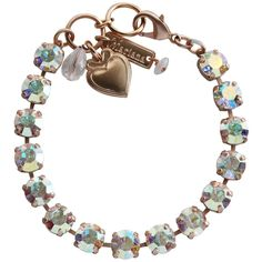 """Mariana Rose Gold Plated Classic Shapes Swarovski Crystal Bracelet, 7"""" Crystal AB. Available at www.regencies.com"""
