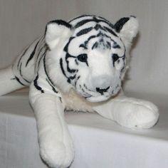 Tigre De Pelúcia Filhote - 60cm - Branco