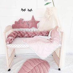Braided crib bumper knot crib bumper crib bedding braid | Etsy Baby Bumper, Cot Bumper, Crib Bumpers, Stuffed Animals, Knot Cushion, Baby Sheets, Crib Rail, Moses Basket, Minky Blanket