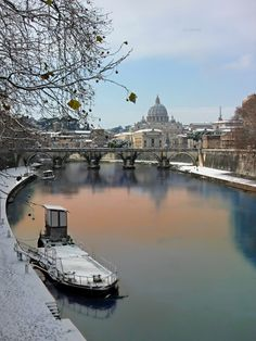 Roma - Lungotevere con la neve