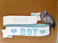 New Baby Boy Card by ElmwoodCards on Etsy