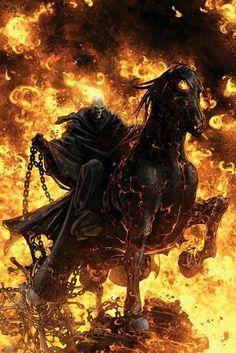 HD wallpaper: Ghost Rider: Spirit of Vengeance, skeleton riding black horse wallpaper Dark Fantasy Art, Dark Art, Ghost Rider Wallpaper, Horse Wallpaper, Hd Wallpaper, Marvel Art, Marvel Heroes, Marvel Comics, Ms Marvel